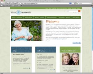 Maine Web Design Example - Maine Senior Guide