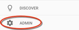 Google Analytics Admin Buttonn