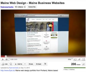 Maine Web Design Video