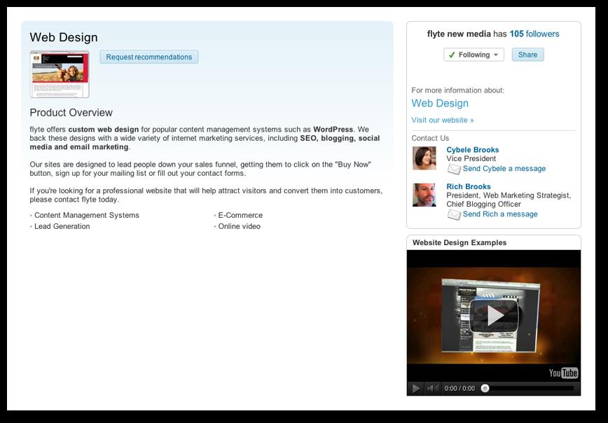 LinkedIn Services Tab